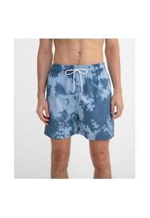 Bermuda Tie Dye Com Amarração | Ripping | Azul | P