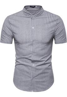 Camisa Xadrez Kingston - Cinza M