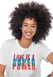 Camiseta Colcci Lettering Off-White