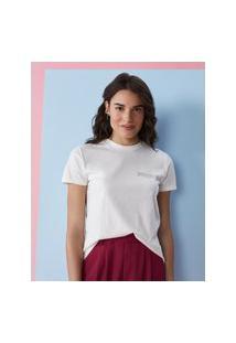 Amaro Feminino T-Shirt Be Proud Of Who You Are, Off-White