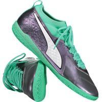 Chuteira Puma One 3 Il Lth It Futsal Verde 0e75c36997384