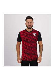 Camisa Sáo Paulo Prewitt Preta E Vermelha