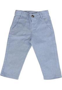 Calça Infantil Oliver Slim Alfaiataria Masculina - Masculino-Azul