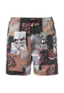 Short Masculino Boardshort Collage - Preto