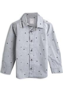 Camisa Hering Kids Menino Estampa Cinza