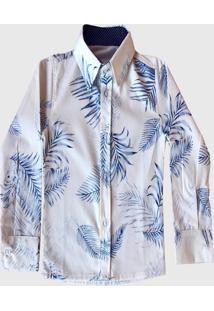 Camisa Estampada Mabu Denim Manga Longa