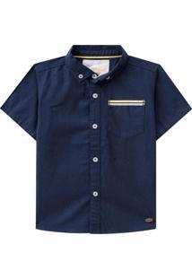 Camisa Manga Curta Milon Azul Marinho