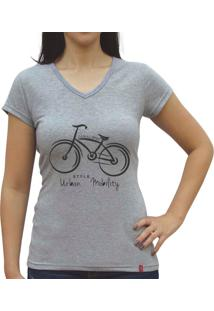 Camisa Baby Look Casual Sport Urban Mobility Cinza