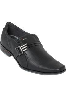 Sapato Pegada Preto Fivela Decorativa
