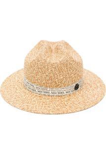 Maison Michel Tylie Logo-Ribbon Hat - Neutro