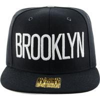 Boné Aba Reta Young Money Snapback Brooklyn 3D - Unissex-Preto 5e0414f7c00