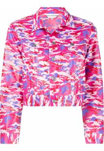 Comme Des Garçons Girl Jaqueta Cropped Com Estampa Camuflada - Rosa