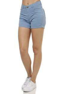 Short Feminino Uber Azul