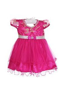 Vestido Marie Bordado Pink