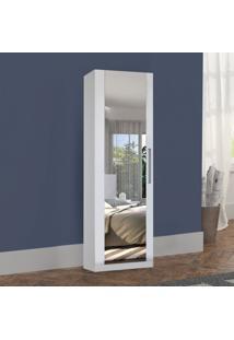 Armário Multiuso 1 Porta Com Espelho 2038 Branco - Foscarini