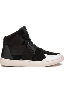 Tênis Masculino Streetwear Rock Fit Floyd Preto E Branco
