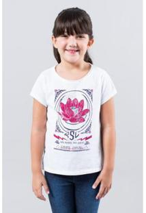Camiseta Infantil Flor De Lotus Reserva Mini Feminina - Feminino