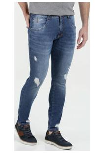 Calça Masculina Jeans Destroyed Biotipo