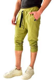Bermuda Moletom Saruel Skinny Brohood Masculina - Masculino-Verde