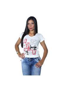 Camiseta Heide Ribeiro Estampada Love Off White