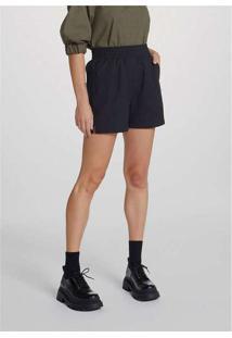 Shorts Feminino Cintura Alta Em Tecido De Viscose