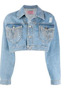 Chiara Ferragni Jaqueta Jeans Com Aplicações - Azul