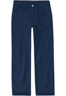 Calça Infantil Malwee Skinny Em Sarja Viroblock® Masculina - Masculino-Azul