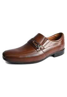 Sapato Social Shoes Grand Line Roma Tabaco