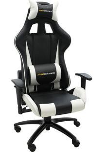 Cadeira Office Pro Gamer V2-Rivatti - Branco / Preto