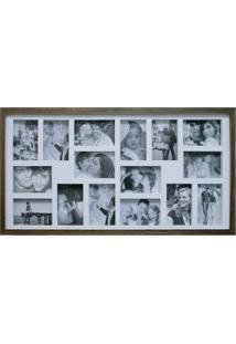 Painel De Fotos Bee Collection 43X83 Rustics 16 Fotos 10X15 Imbuia Kapos