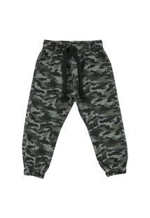Calça Look Jeans Jogger Camuflada