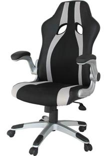 Cadeira Office Speed Preta E Prata - 34461 - Sun House