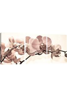 Quadro Decorativo V Flores Estampado