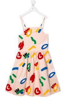 Stella Mccartney Kids Vestido Com Aplicação De Textura - Rosa