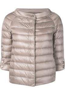 Herno 3/4 Sleeve Padded Jacket - Neutro