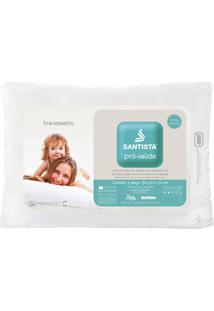 Travesseiro Pró-Saúde- Branco- 70X50Cm- Santistasantista