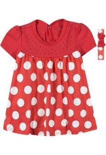 Vestido Bebê Bolinhas Vermelho Carinhoso