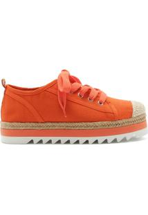Sneaker Flatform Sporty Natural Orange | Schutz