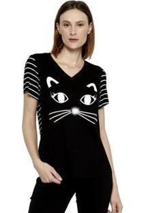 Camiseta Energia Fashion Manga Plus Size Curta Feminina - Feminino