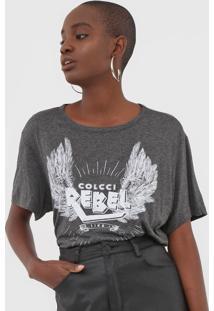 Camiseta Colcci Lettering Cinza