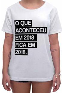 Camiseta Impermanence Estampada Ano Velho Feminina - Feminino