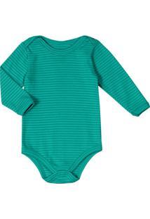 Body Infantil Unissex Verde