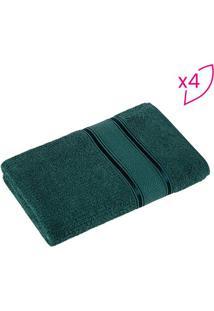 Jogo De Toalhas De Banho Hermes- Verde Escuro- 4Pã§S