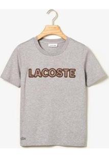 Camiseta Lacoste Regular Fit Feminina - Feminino-Cinza