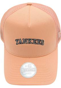 Boné New Era 940 New York Yankees Mlb Laranja