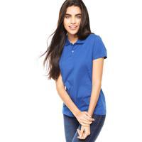 a5fbc0769f Camisa Polo Manga Curta Malwee Slim Azul