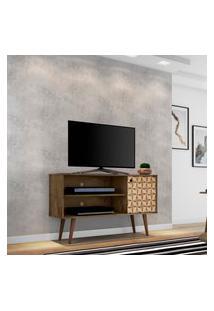 Rack Móveis Bechara Jade Para Tv Até 42 Pol 1 Porta 3D Rústico