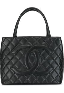Chanel Pre-Owned Cc Logo Medallion Quilted Tote Bag - Preto