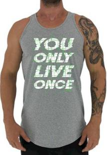 Regata Longline Mxd Conceito You Only Live Once Masculina - Masculino