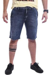 Bermuda Masculina Jeans Estonado Base - Masculino-Azul